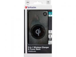 Powerbank Verbatim 10000mAh, Qi bezdrátové nabíjení černá