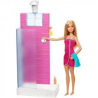 Mattel Barbie panenka a nábytek sprchový kout