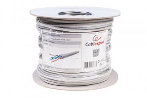 Gembird UTP kabel, drát, cat. 5e, 100m, šedý (UPC-5004E-SO/100C)