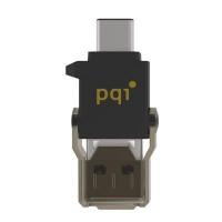 PQI Connect 312 čtecka karet microSD + adaptér USB/USB 3.1 typ-C, černá (Connect 312 czarny)
