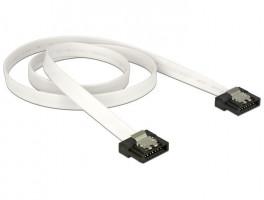 Delock kabel SATA FLEXI 6 Gb/s 50 cm, kov, bílý (83504)