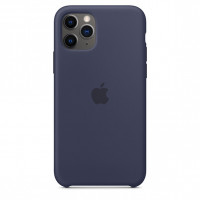 Apple iPhone 11 Pro Max Silicone Case Midnight modrá