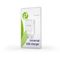 Universal USB charger USB 2.1 A white
