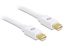 Delock kabel mini Displayport (M) - mini Displayport (M) 5m, bílý (83456)