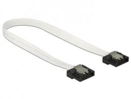 Delock kabel SATA FLEXI 6 Gb/s 20 cm, kov, bílý (83503)