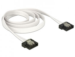 Delock kabel SATA FLEXI 6 Gb/s 70 cm, kov, bílý (83505)