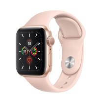 Apple Watch Series 5 GPS 40mm Zlatý hliník s pískově růžovým sportovním řemínkem