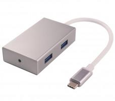PremiumCord USB3.1 hub 4x USB3.0 hliníkové pouzdro (ku31hub01)