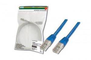 Digitus Patch Cable, UTP, CAT 5e, AWG 26/7, modrý, 0,5m (DK-1511-005/B)