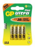 Alkalická baterie GP Ultra Plus 4x AAA (1017114000)