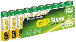 GP AAA Super, alkalická - 10 ks, fólie (1013100102)