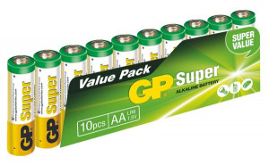 GP Super Alkaline 10ks AA (1013200102)