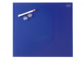 NOBO Diamond board 30x30 cm, blue, glass, magnetic