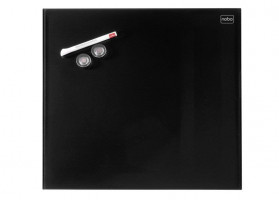 NOBO Diamond board 45x45 cm, black, glass, magnetic