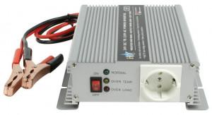 HQ INV600W/24 - Měnič napětí 24V/230V, 600W, Schuko zásuvka