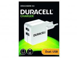 Duracell Dualní USB Nabíječka pro čtečky & telefony 2,4A bílá