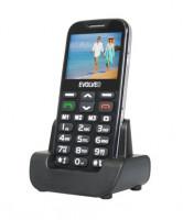 EVOLVEO EasyPhone XD, mobilní telefon pro seniory s nabíjecím stojánkem, černý (EP-600-XDB)