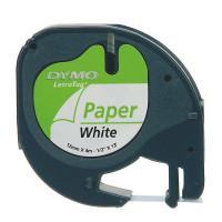 Dymo 59421, S0721500, černý tisk/bílý podklad, 4m, 12mm, LetraTag papírová páska