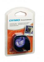 Dymo 12267, S0721530, černý tisk/průhledný podklad, 4m, 12mm, LetraTag plastová páska