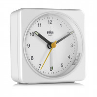 Braun BC 03 W quartz alarm clock analogový white