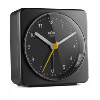 Braun BC 03 B quartz alarm clock analogový black