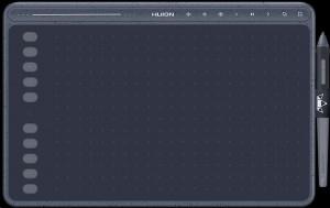 HUION HS611 GREY graphic tablet 5080 lpi 258.4 x 161.5 mm USB Gray