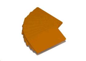 Zebra barevné PVC karty 30mil - zlaté (500ks)