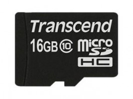 Transcend MicroSDHC Karta 16GB Class 10