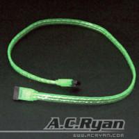SATA - AC RYAN ACR-SA8430 (SATA cable 100cm UVgreen)