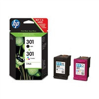 HP Ink Cart No. 122 Combo-pack Black/Tri-color, CR340HE