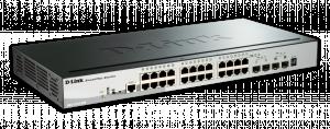 D-Link DGS-1510-28P PoE Switch 24xGb+2xSFP+ 2xSFP+