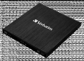 Verbatim External Blu-ray ReWriter, USB 3.0, Slim, Black