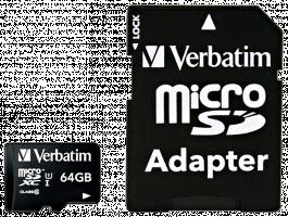 Verbatim microSDXC class 10 64GB microSDXC Class 10 44084