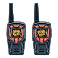 COBRA vysílačky AM845/ profi PMR/ 2ks/ 6x nabíjecí baterie AA/ 8 kanálů/ dosah 10km/ černo-oranžové