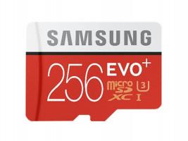 Samsung paměťová karta EVO+ microSDXC 256GB CL10 UHS-I čtení/zápis (95/20MB/s)
