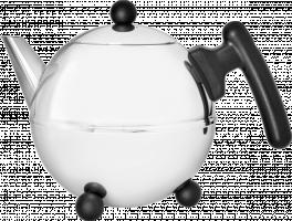 Bredemeijer Teapot Bella Ronde 0,75l čajová konvice stříbrno-černá