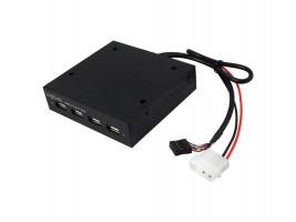 "LogiLink 3,5""interné Hub 4 x USB 2.0 (UA0074) čierny"