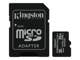 KINGSTON 32GB microSDHC CANVAS Plus paměť Card 100MB read - UHS-I class 10 Gen 3