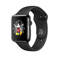 Apple Watch Series 2, 38mm, ocel, černý