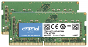 Crucial 16GB, DDR4, 2400, 8GBx2, SODIMM, 260pin, pro Mac