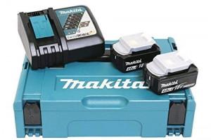 Makita sada baterie 2xBL1840 + nabíječka DC18RC + systainer, 197494-9