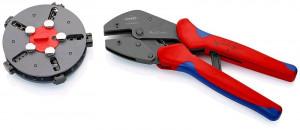 Knip KNIPEX Lisovací kleště s výměnným zásobníkem | mit Mehrkomponenten-Hüllen 250 mm