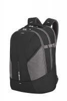 "Backpack M SAMSONITE 37N09002 16"" 4MATION comp, tblt, doc. pock, black/silver"