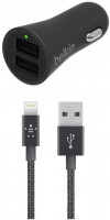 BELKIN USB dual autonabíječka, 4A/5V + Lightning kabel