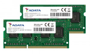 ADATA Premier 8GB DDR3 1600MHz / SO-DIMM / CL11 / 1,35V / KIT 2x 4GB