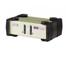 ATEN 2port KVM PS2+USB, 1.2m kabely