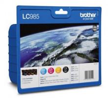 Brother inkoustová náplň LC-985 VALBP/ Černá + tři barvy