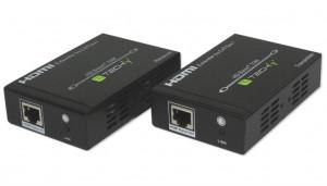Techly Extender HDMI HDBaseT po Cat6/6a/7 kabelu do 70m UHD 4K s IR PoE
