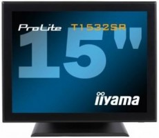 "Iiyama LCD Prolite T1532SR-B1 15"", 5ms, DVI, repro, dotykový monitor, č"