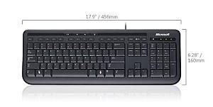 Wired Kbrd 600 USB Port CS/SK Hdwr černá barva